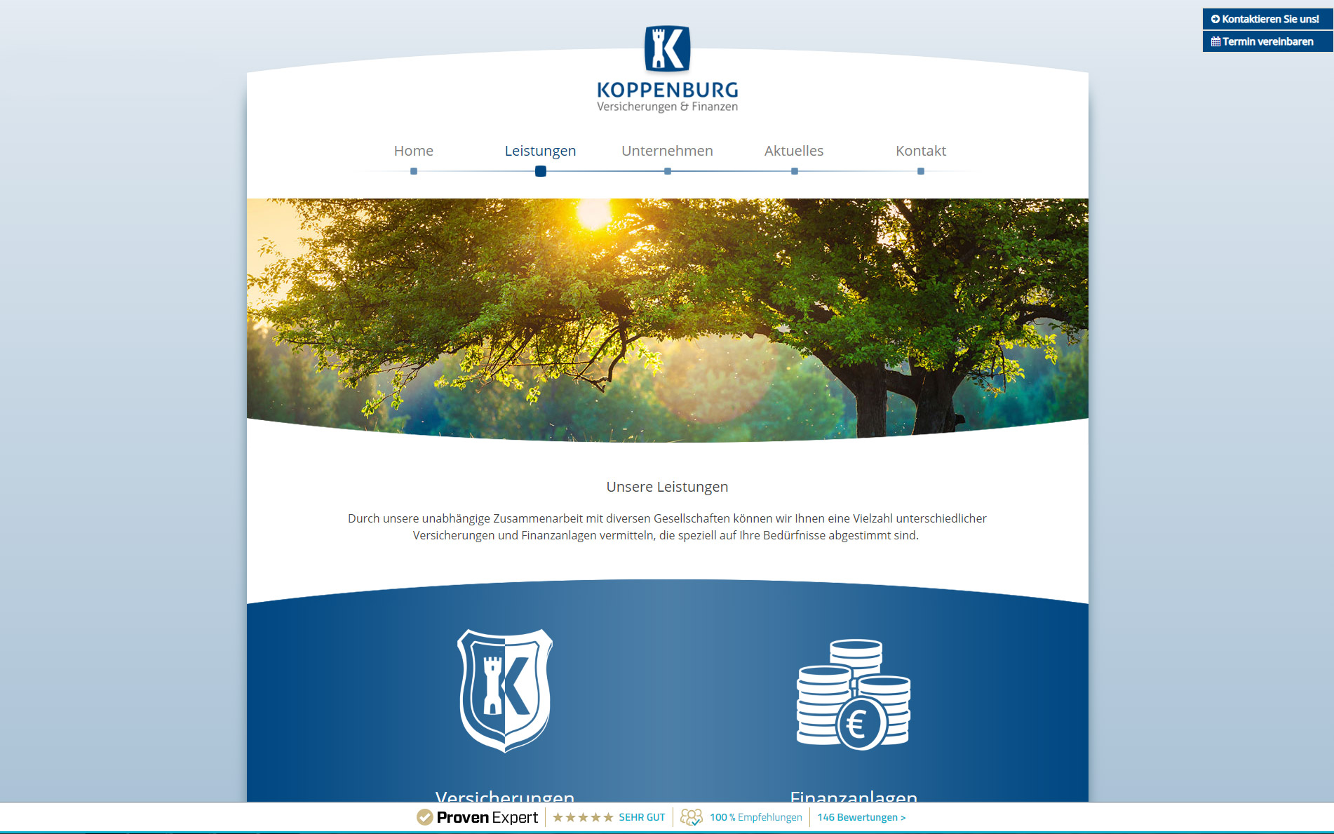 Logo- & Webdesign: Koppenburg